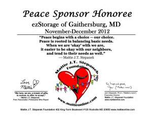 Peace Sponsor Honoree