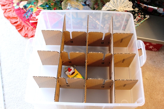 15 Clever Christmas Ornament Storage Ideas Create your own cardboard dividers, and put them in a plastic bin to keep them safe. Find this Pin and more on * Christmas * by KK Meyer. The trick to storing ornaments safely is to use dividers.