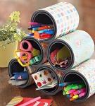 Paint Cans as Desk Accessories