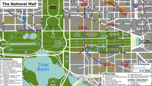 Map of the National Mall