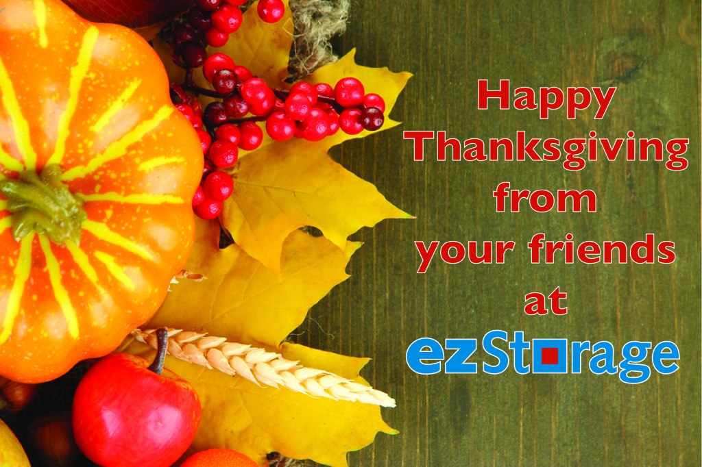 Happy Thanksgiving from ezStorage